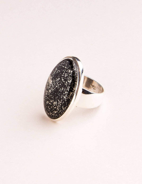 Apache Gold Pyrite Gemstone Ring