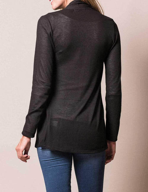 Aria Knit Wrap - Black