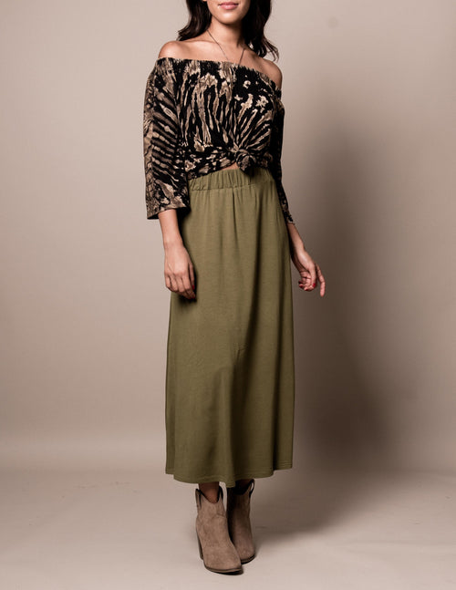Bamboo Maxi Skirt - Small Only