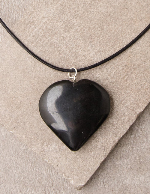 Black Tourmaline Heart Pendant