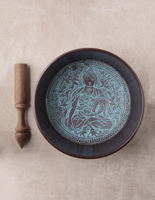 Blue Buddha Singing Bowl - 7 inch