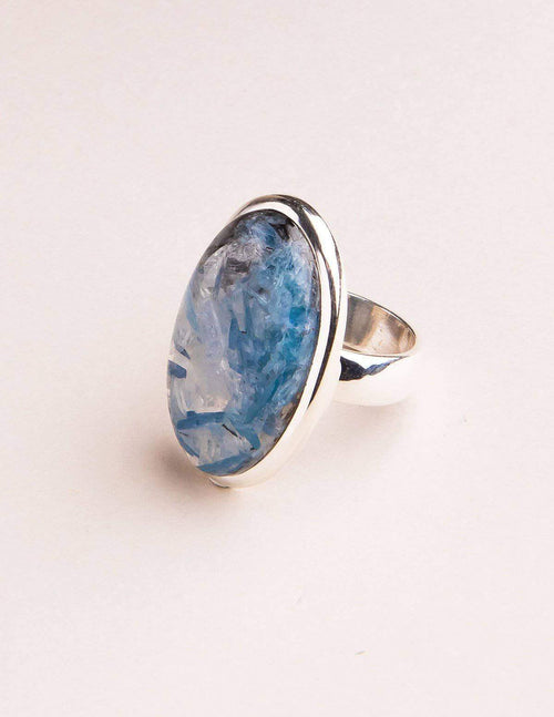 Blue Kyanite Gemstone Ring - Adjustable