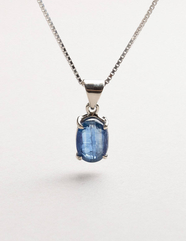 Blue Kyanite Mini Pendant Necklace