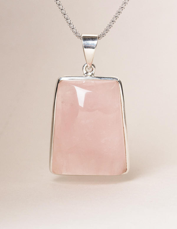Brazilian Rose Quartz Pendant