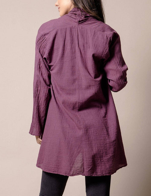 Brea Wrap Jacket - Plum