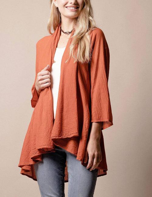 Brea Wrap Jacket - Rust
