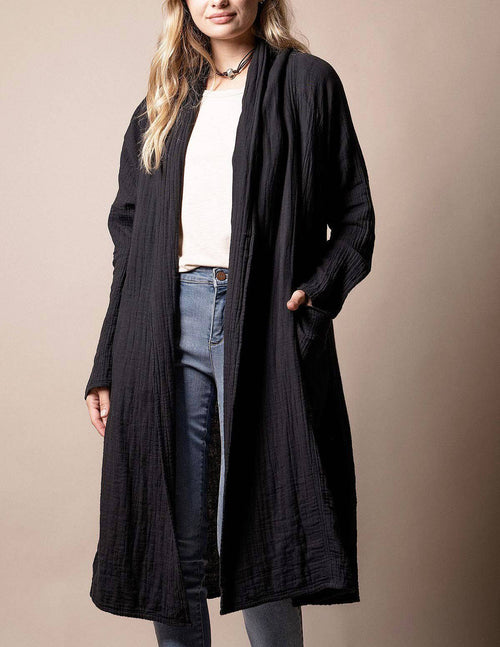 Brenley Wrap Jacket - Black