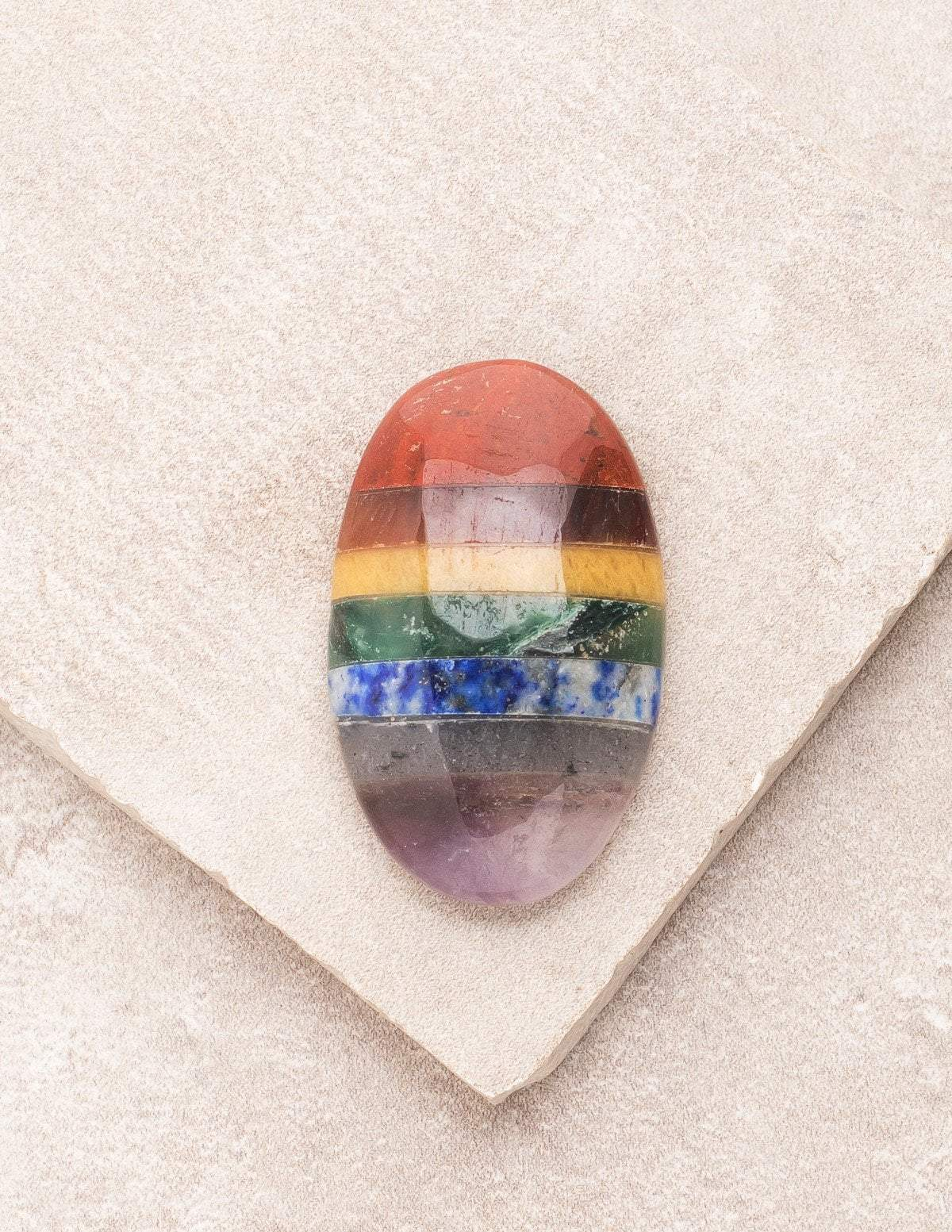 Chakra Worry Stone - As Is Clearance