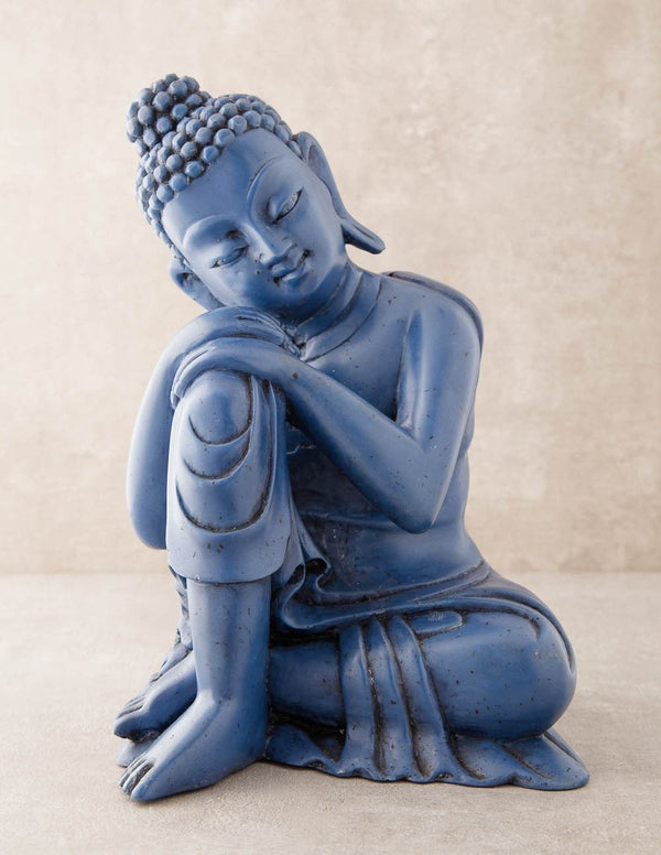 Compassionate Blue Buddha Statue - As Is Clearance