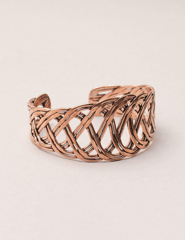 Copper Braided Healing Cuff