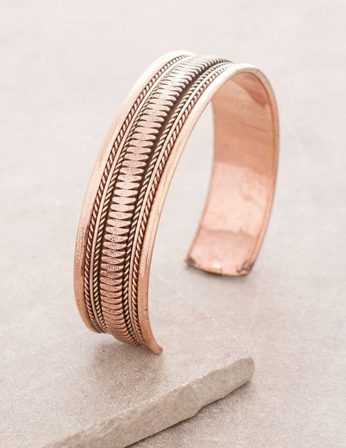 Copper Brass Tibetan Healing Bangle