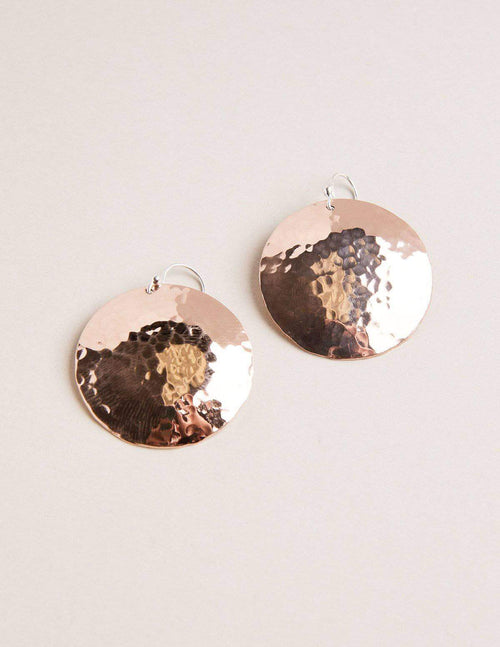 Fair Trade Copper Disc Earrings