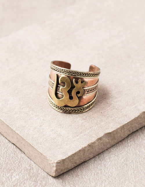 Copper Om Ring