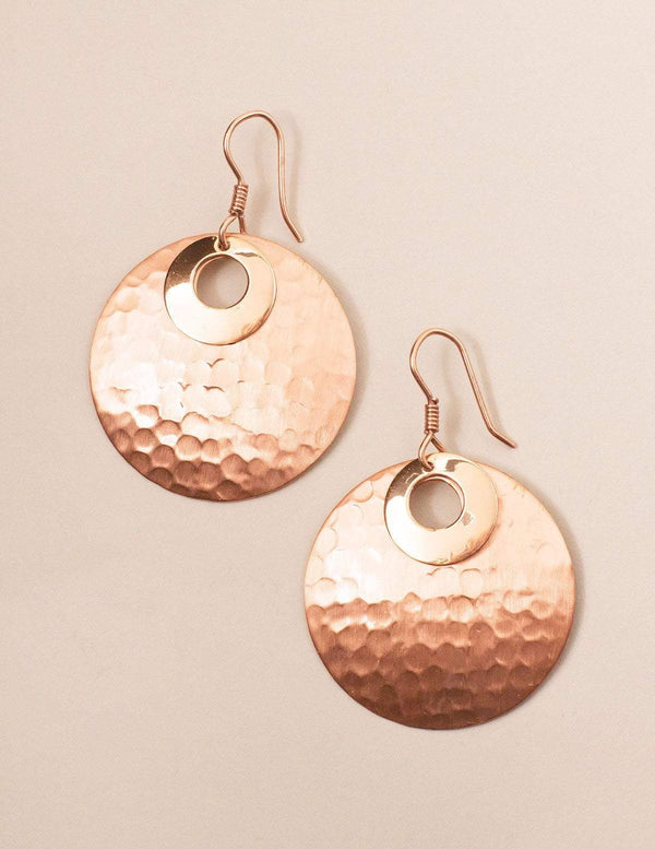 Copper Reflections Earrings