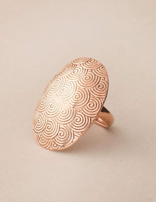 Copper Swirl Healing Ring