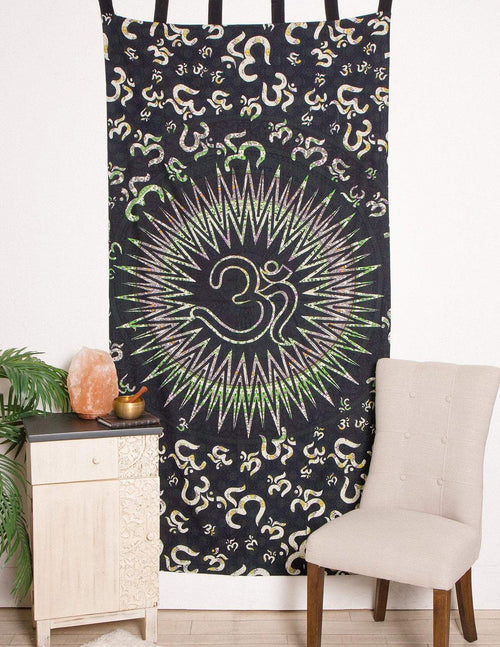 Cosmic Om Mandala Curtain
