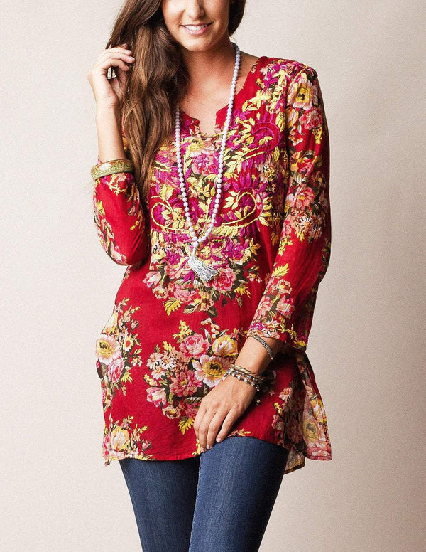 Divinity Rose Tunic - Dark Red