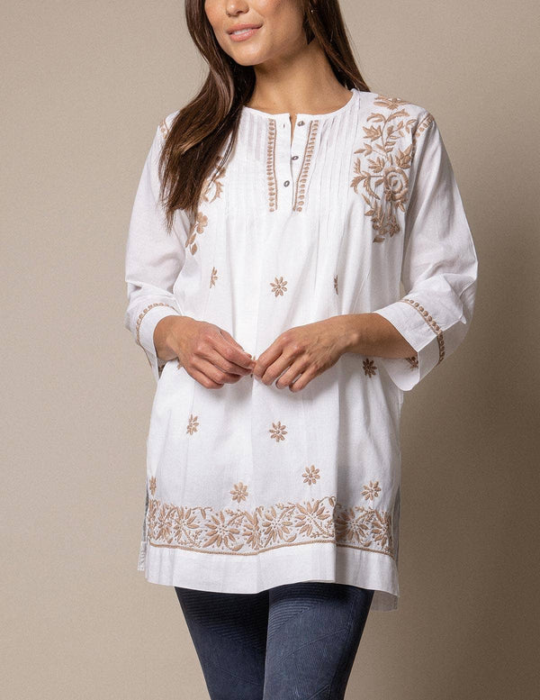 Fair Trade Amara Tunic - Taupe