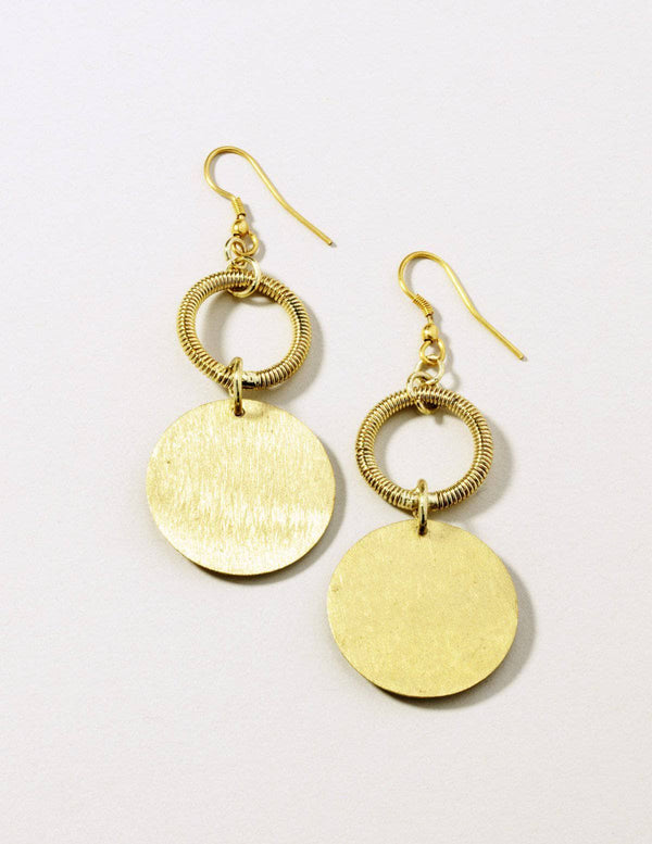 Fair Trade Brass Coin Earrings