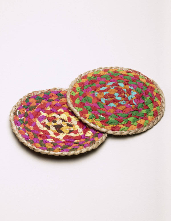 Fair Trade Chindi Trivet - Set of 2
