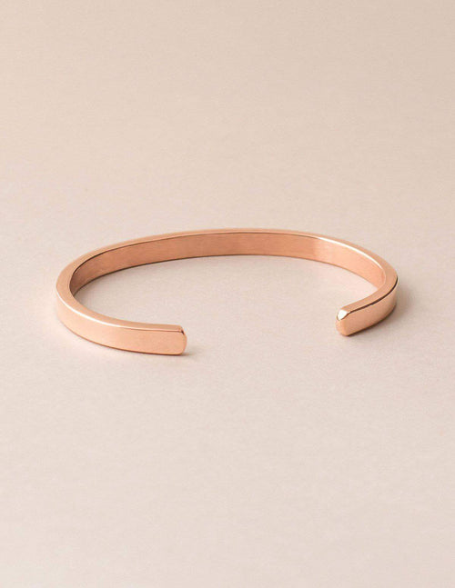 Fair Trade Copper Affirmation Bangle - Believe