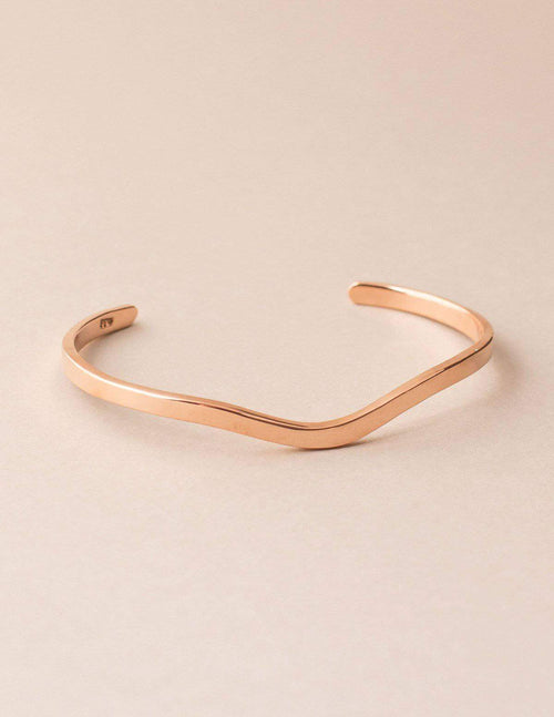 Fair Trade Curved Copper Cuff
