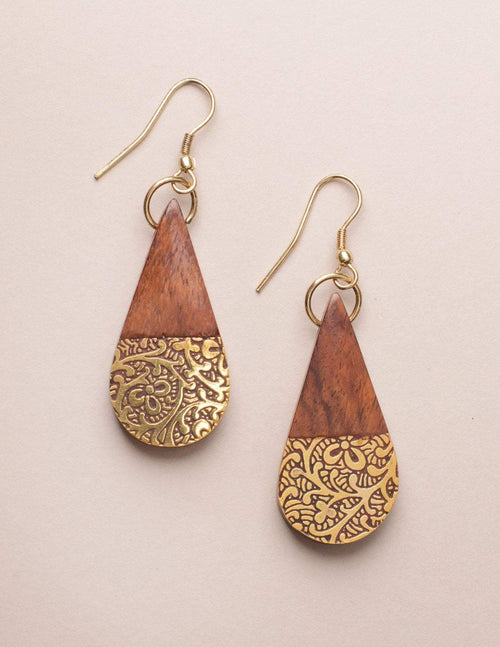 Fair Trade Earth and Fire Earrings