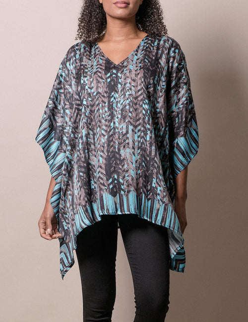 Fair Trade Flowy Tunic - Turquoise