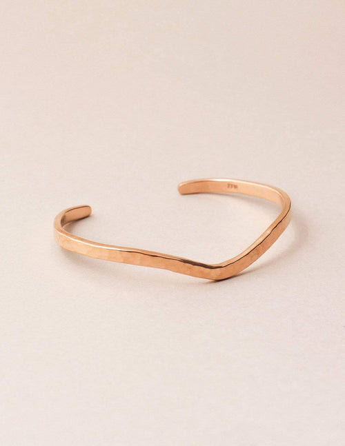 Fair Trade Hammered Curved Copper Cuff