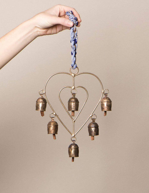 Fair Trade Hanging Heart Bell Chime