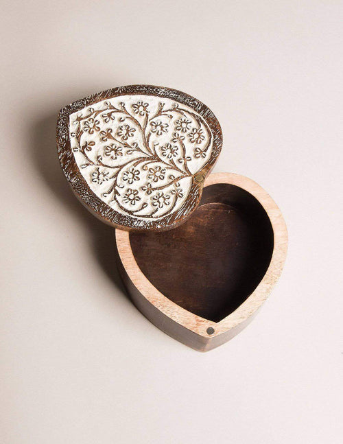 Fair Trade Heart Shape Treasure Box