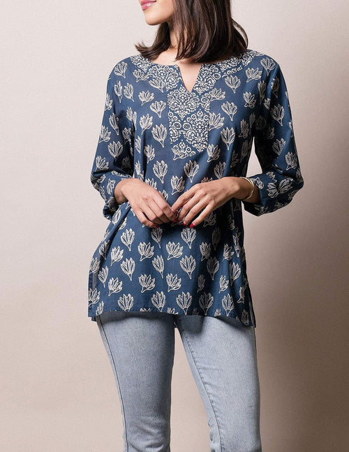 Fair Trade Indigo Print Tunic