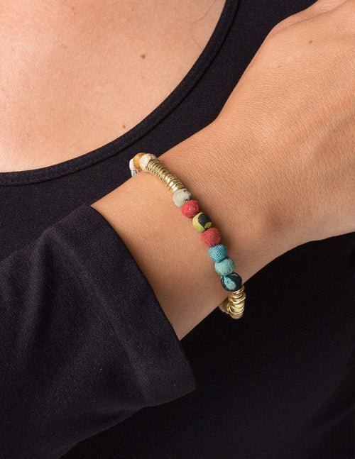 Fair Trade Kantha Paillette Bracelet
