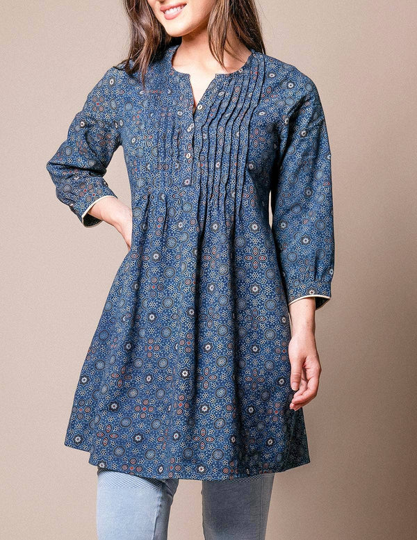 Fair Trade Nadia Tunic Dress - Indigo