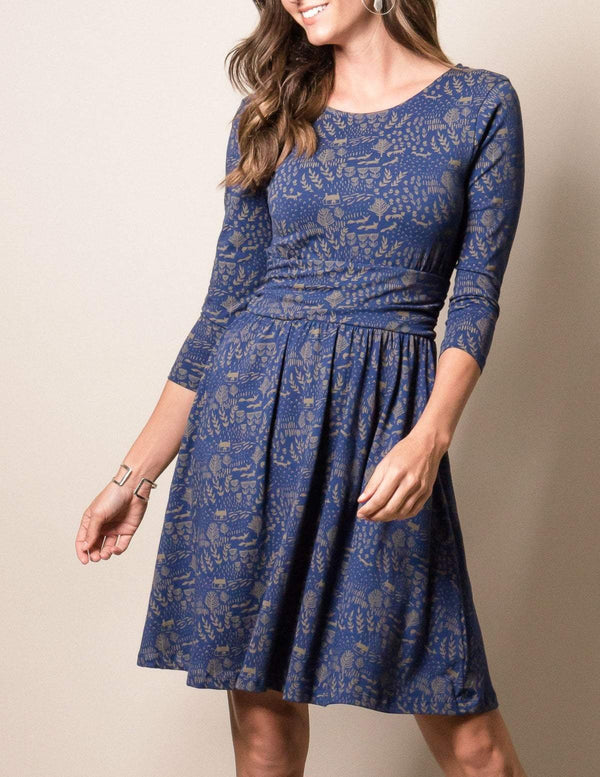 Fair Trade Natural Rhythm Dress - Blue