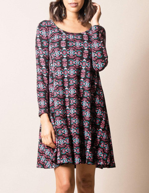 Fair Trade Rising Lotus Swing Dress