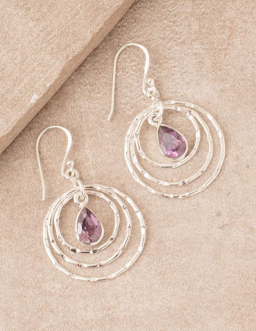 Fair Trade Silver Amethyst Earrings