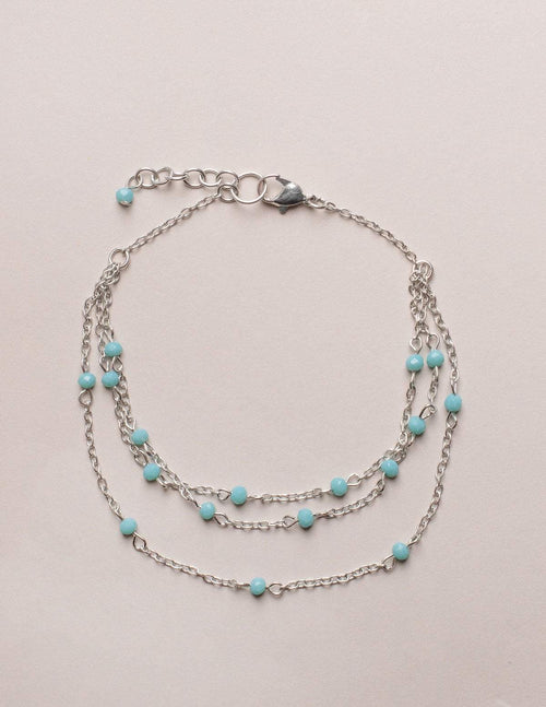 Fair Trade Silver Bead Anklet