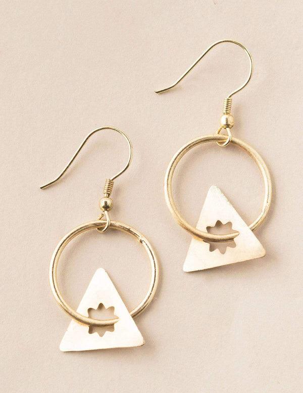 Fair Trade Starry Hoop Earrings