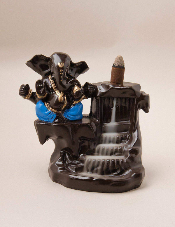 Ganesh Backflow Incense Burner and Cones
