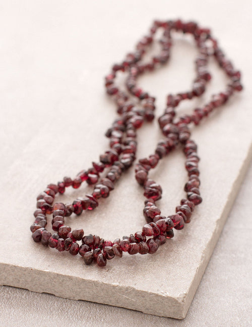 Garnet Gemstone Chip Necklace