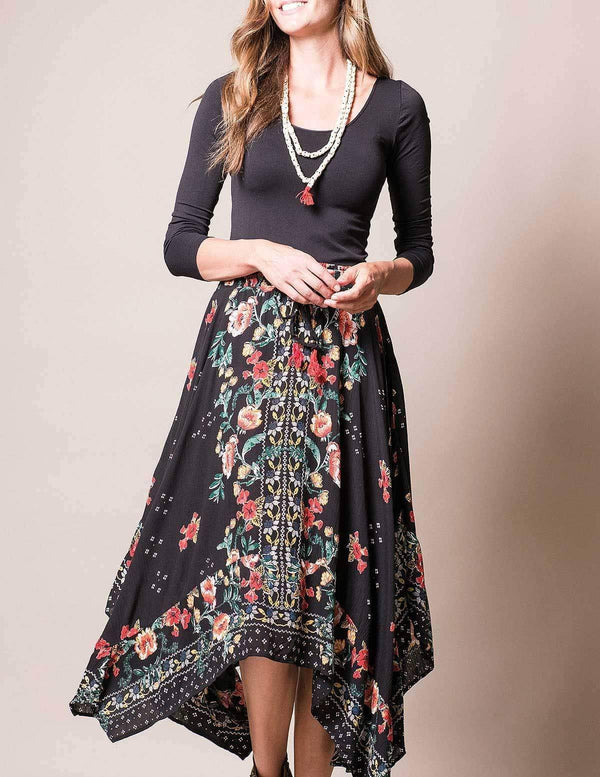 Gianna Hanky Hem Skirt - As Is Clearance Small Only