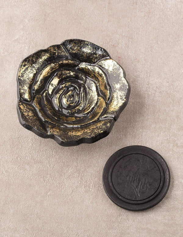 Golden Rose Incense Burner