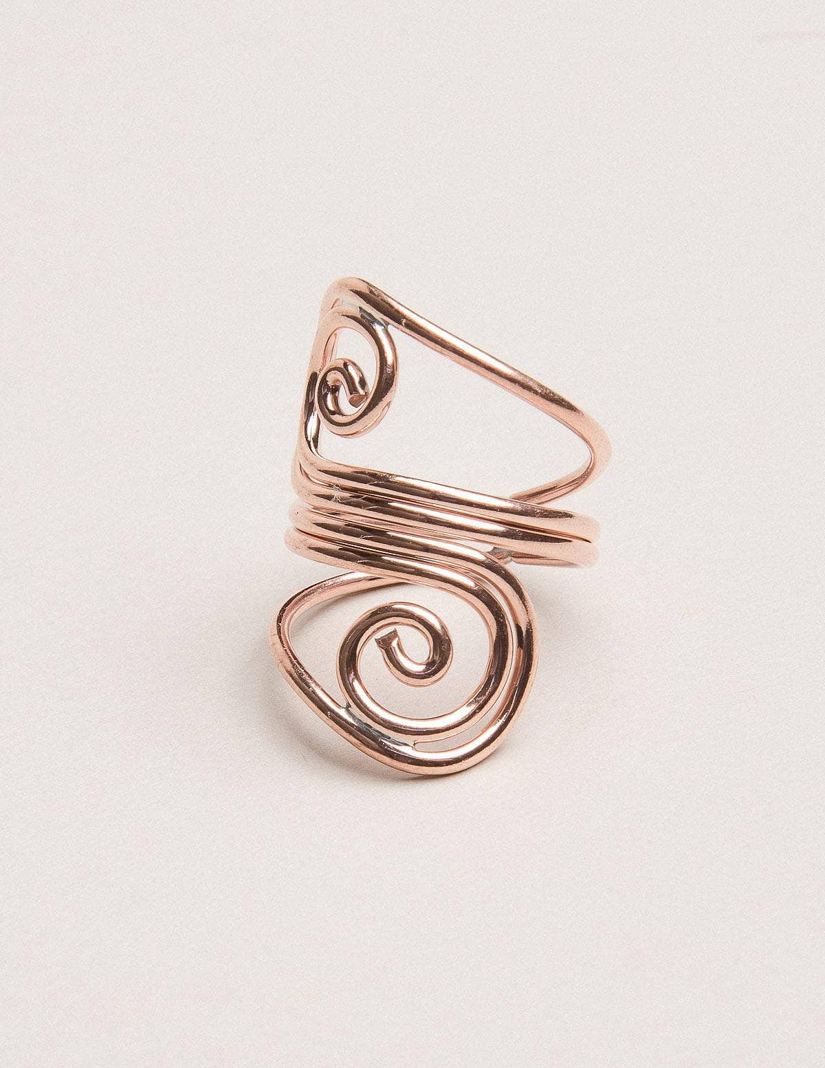 Handcrafted Hammered Copper Ring Adjustable from Size 9