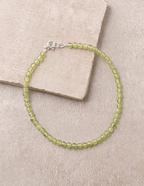 High-Energy Peridot Anklet