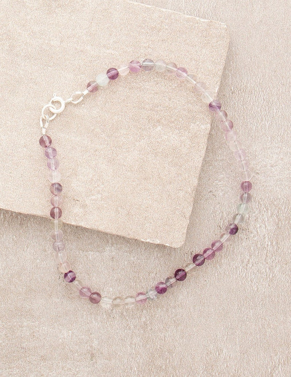 High-Energy Rainbow Fluorite Anklet