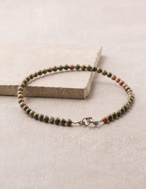 High-Energy Unakite Anklet
