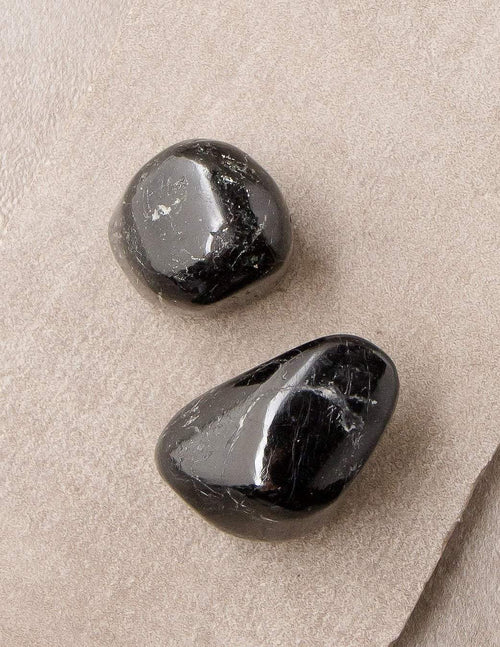 Himalayan Black Tourmaline Pocket Stones - Set of 2