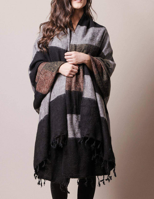 Himalayan Yak Wool Large Wrap - Alpine