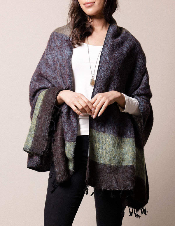 Himalayan Yak Wool Wrap - Heather